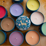 Blooming Deer Tin Candle - Various Scents