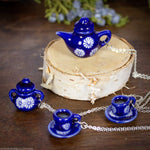 Tea Time Necklaces - Blue Ceramic