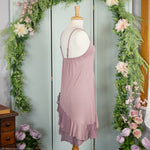Two Piece Scrap Dress, Mauve