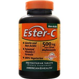 American Health Ester-C with Citrus Bioflavonoids (500mg)  225 tabs