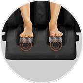 Sharper Image Relieve 3D Calf and Foot Rollers