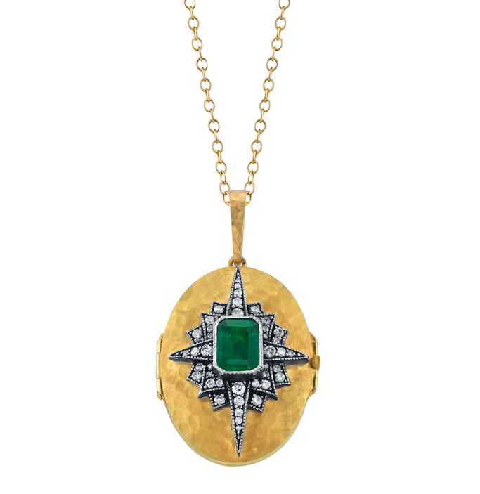 Emerald Starburst Locket