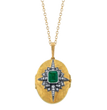 Load image into Gallery viewer, Emerald Starburst Locket