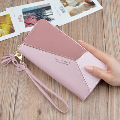 Leather Clutch Wallet Wallets Realperky Store Blush Pink