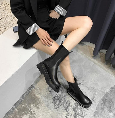 Chelsea Boots Ankle Boots VRLVCY Official Store 5 Mid-Knee Height
