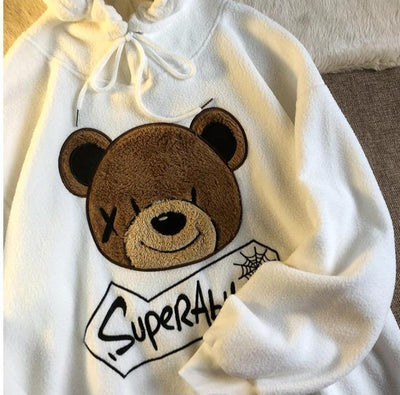 Teddy Plush Hoodie Hoodies & Sweatshirts Shop911054072 Store