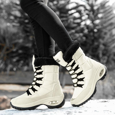 Lace Up Winter Boots Mid-Calf Boots ZUUBAN Trend Store