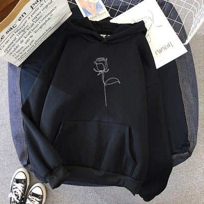 Rosie Hoodie Hoodies & Sweatshirts FUN CLOTH Store Midnight Black S