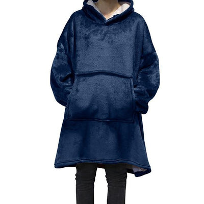 Giant Blanket Hoodie Hoodies & Sweatshirts Wensilian Trendy Store Navy One Size