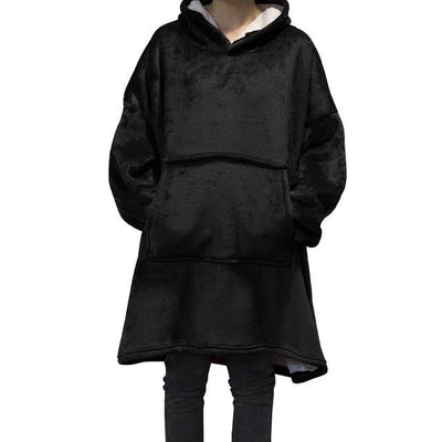 Giant Blanket Hoodie Hoodies & Sweatshirts Wensilian Trendy Store Midnight Black One Size