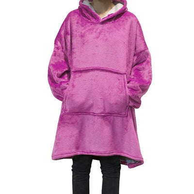 Giant Blanket Hoodie Hoodies & Sweatshirts Wensilian Trendy Store Hot Pink One Size
