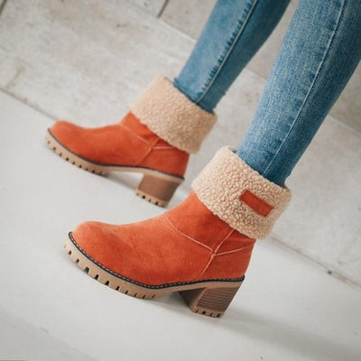 Slip On Snow Boots Ankle Boots Mr H Factory Store Orange 4