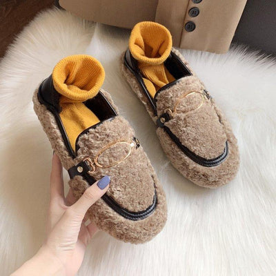 Fluffy Faux Fur Shoes BeautyCoves