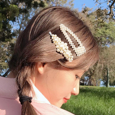 Barrette Pearl Hairclips Hair Jewelry luck girl Store