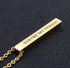 4-Sided Custom Engraved Bar Necklace Pendant Necklaces POSHFEEL Store Gold