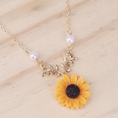 Sunflower Necklace Pendant Necklaces Andylin Store