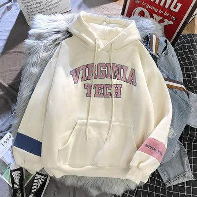 Virginia Tech Pullover Hoodie Hoodies & Sweatshirts Goddess of luck Store Snow White S