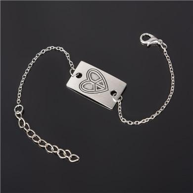 Silver Plated Custom Bracelet Chain & Link Bracelets ZSC JEWLRY & ACCESSORIES ns214