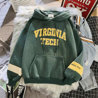 Virginia Tech Pullover Hoodie Hoodies & Sweatshirts Goddess of luck Store Forest Green S