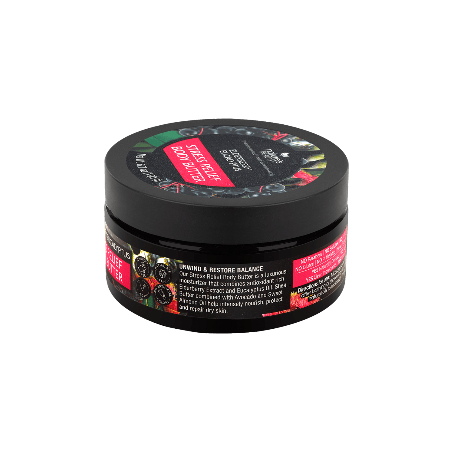 Elderberry Eucalyptus Stress Relief Body Butter