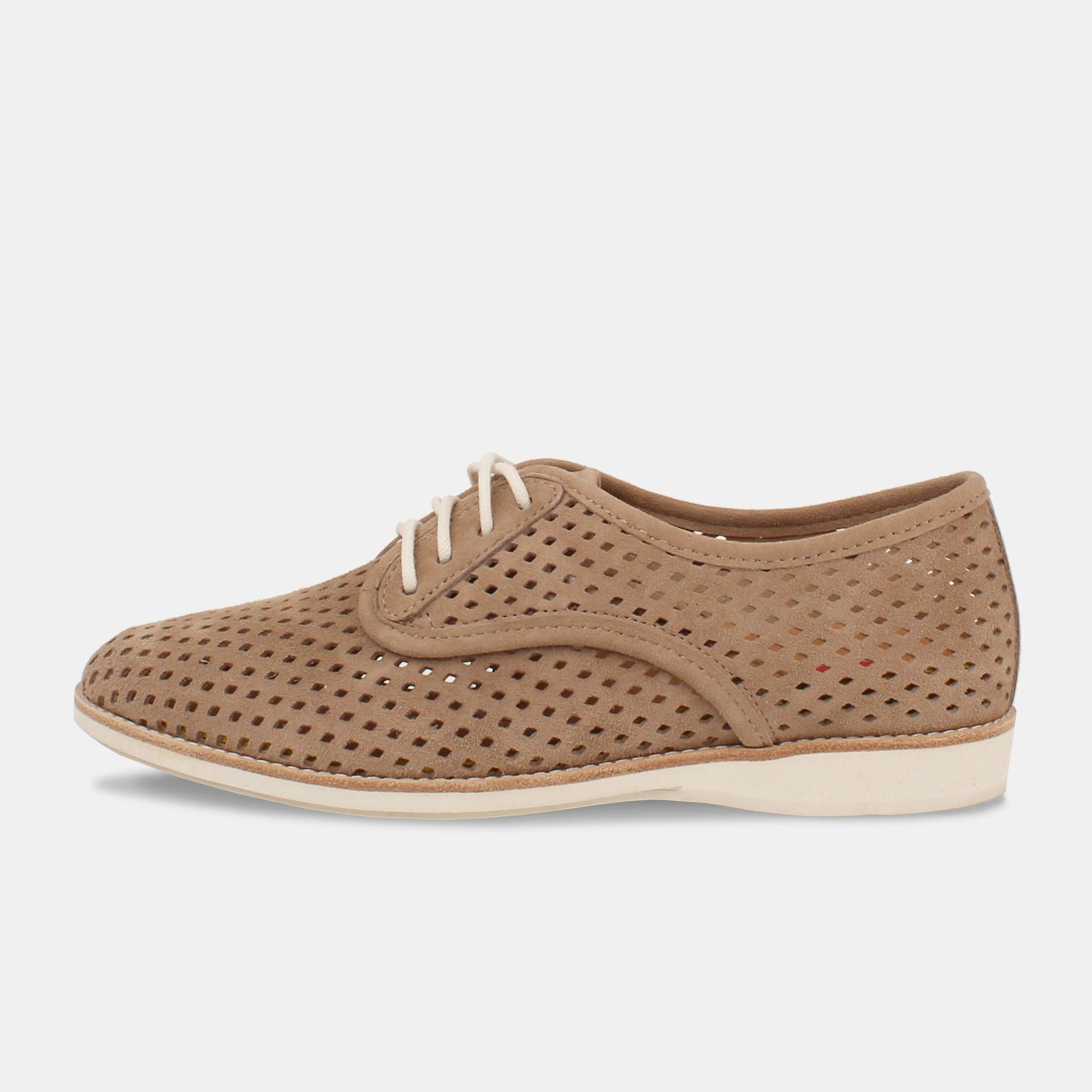 Derby Punch Light Taupe Suede