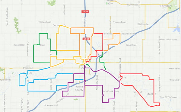 Cycling Routes in Ottawa and Franklin County Kansas