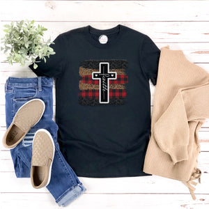 Faith and Leopard Tee