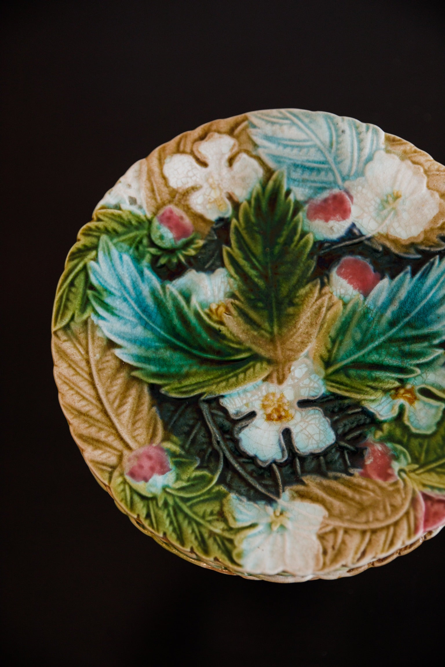 Majolica Plates, Set of 12