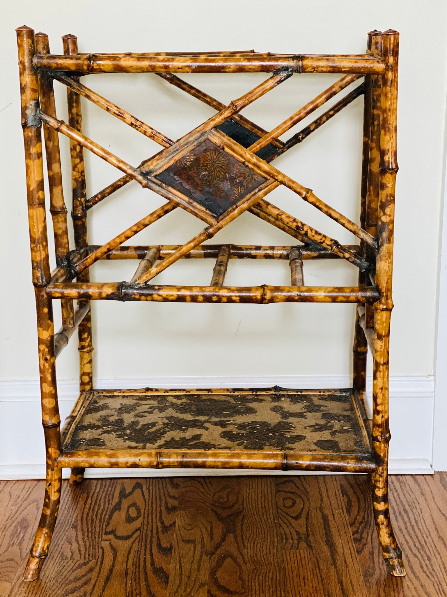 Antique Bamboo Newspaper Stand