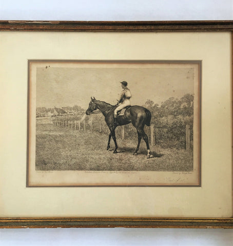 Etching, Frank Paton, Racing Print