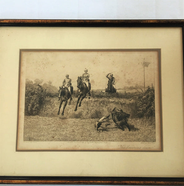 Etching, Frank Paton, Racing Print,