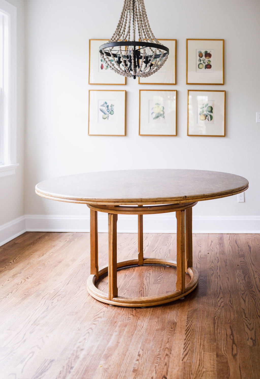 McGuire Bamboo Round Table, c. 1970s