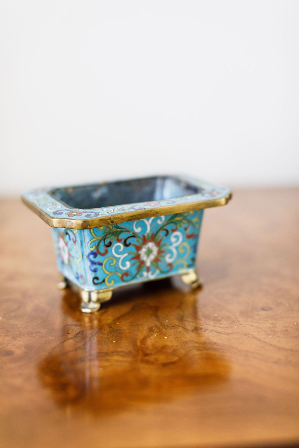 Antique Cloisonné Bulb Planter