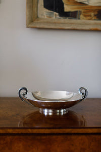 Danish Silver Two Handled Bowl