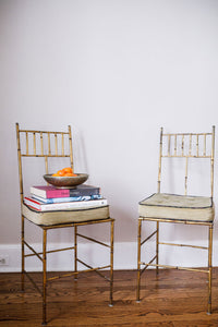 Gilt Accent Chairs, Pair