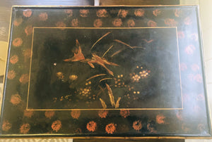 Antique Bamboo and Lacquer Table