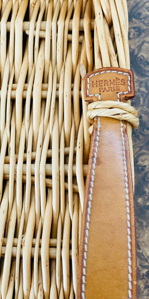 Hermès Wicker Tray