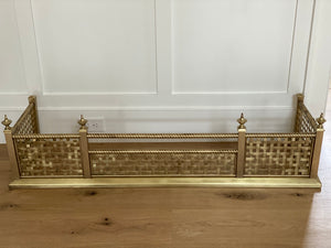 Vintage Brass Fireplace Fender