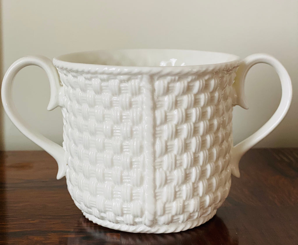 Tiffany & Co Basket Weave Baby Cup