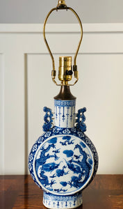 Blue and White Chinese Export Porcelain Table Lamp