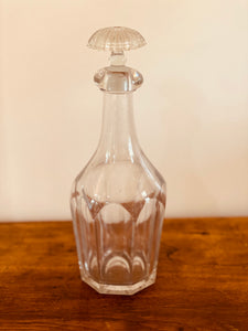 Antique Cut Glass Decanter with Stopper