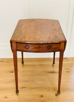 Antique George III Inlaid Pembroke Table from the Estate of Mario Buatta