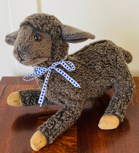Vintage Stuffed Lamb by Hansa