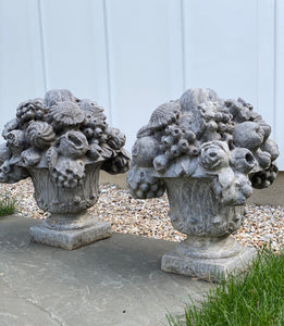 Vintage Cast Garden Ornaments by Pennoyer Newman, Pair