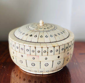 Inlaid Bone Lidded Box