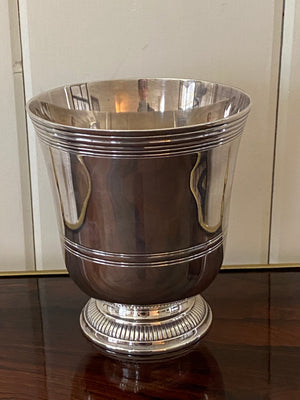 Puiforcat Art Deco Silverplated Cachepot