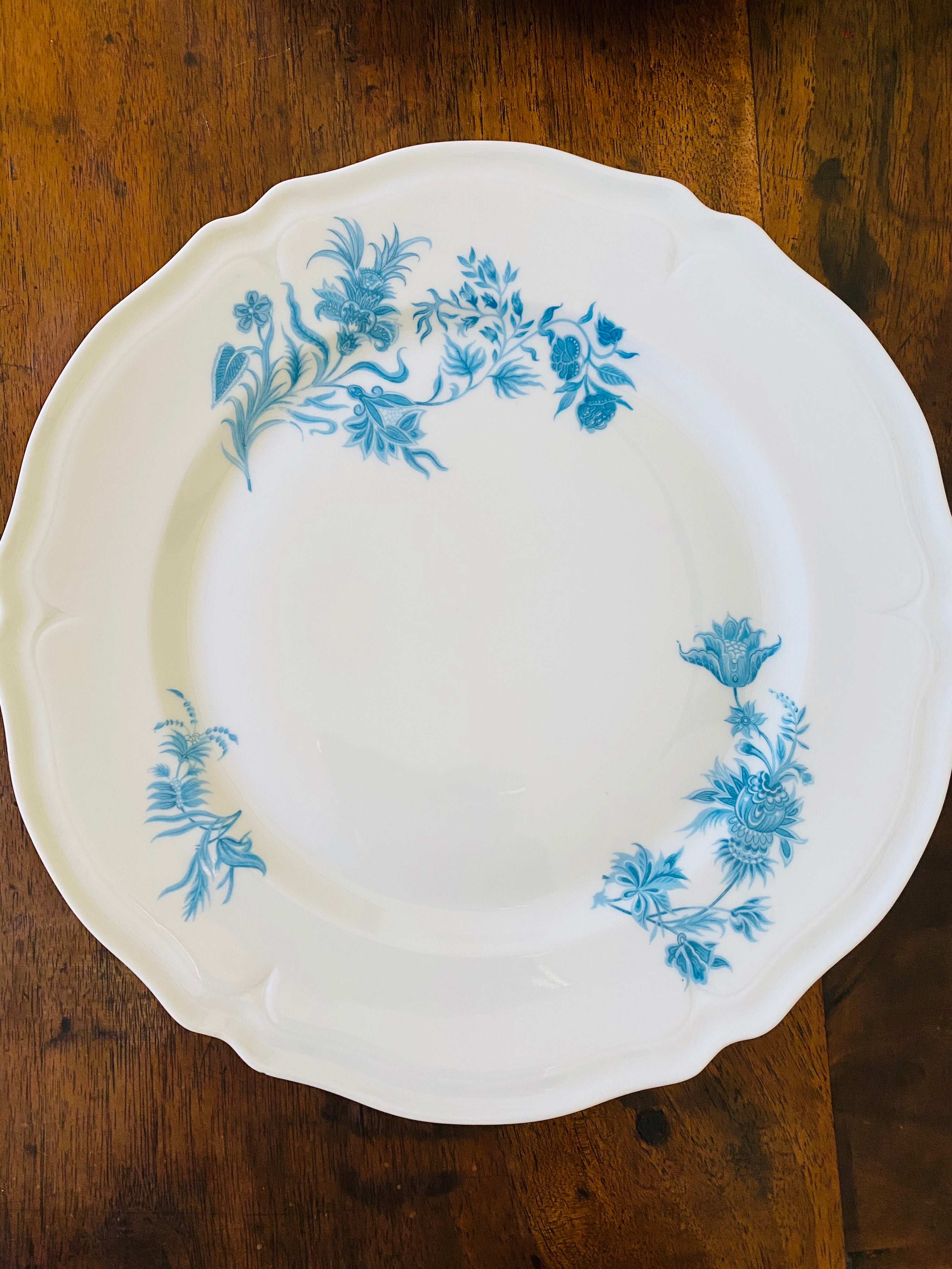 Giraud Limoges Porcelain Dinner Plates, Set of 6