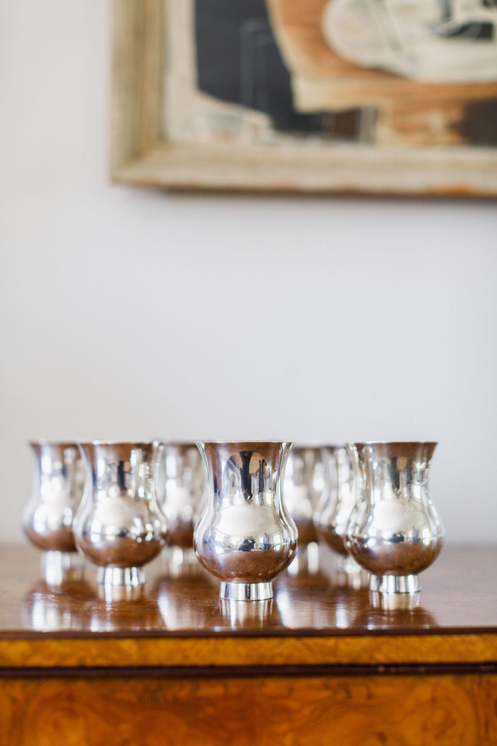 Puiforcat Sterling Champagne Tumblers, Set of Eight