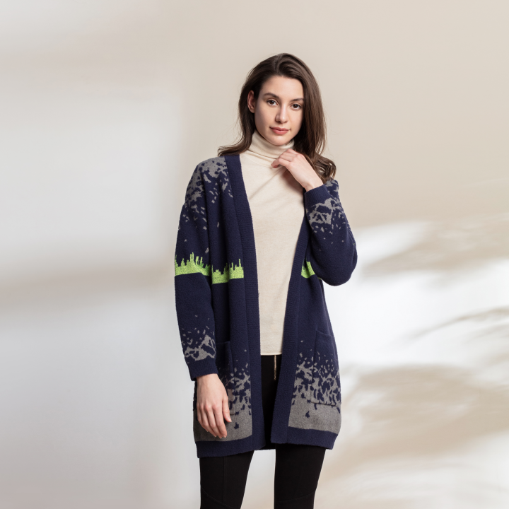 Air Feel AURORA COLLECTION Women's Knitted Glow in the Dark Cardigan