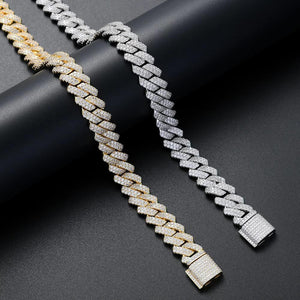 12mm Diamond Prong Cuban Chain